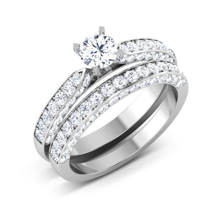 Glisten Solitaire Bridal Ring Set