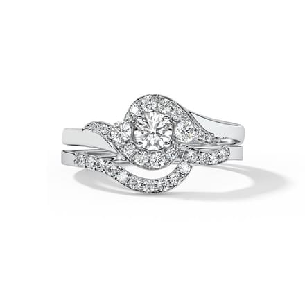 Shimmer Solitaire Bridal Ring Set