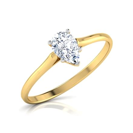 Zeal Pear Solitaire Ring