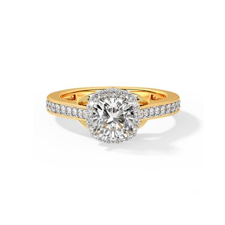 Queen of Diamonds Solitaire Ring