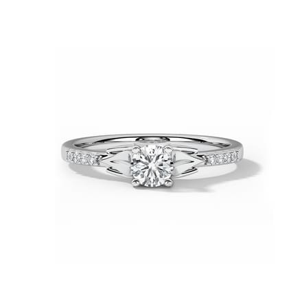 Skye Leaf Solitaire Ring