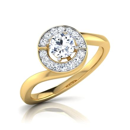 Lesly Halo Solitaire Ring