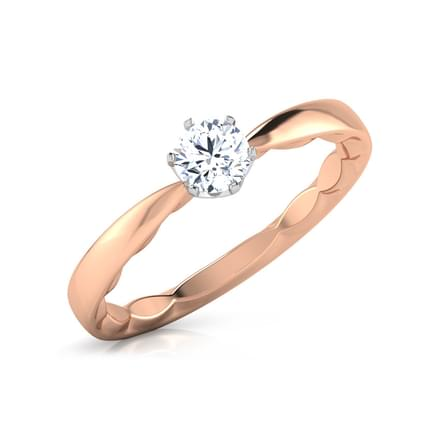 Faceted Solitaire Ring