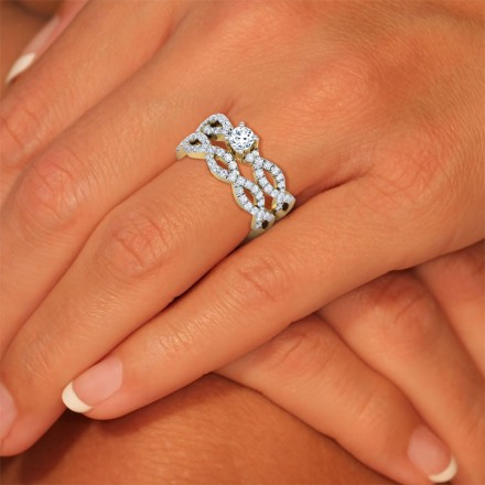Shimmer Bridal Ring Set