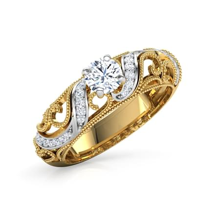 Cathy Miligrain Solitaire Ring