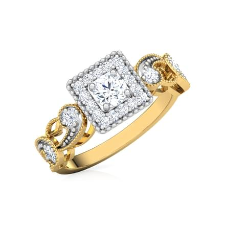 Daisy Filigree Solitaire Ring