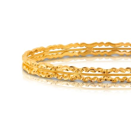 Binu Textured Gold Bangle