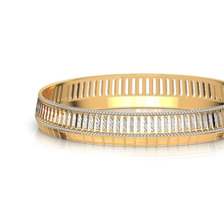 Edgy Cutout Gold Bangle