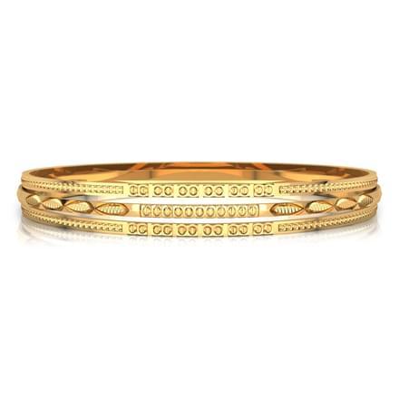 Deco texture gold bangle
