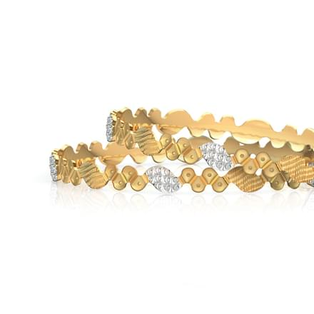 Deco Design Gold Bangle of 2