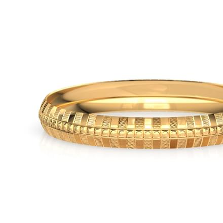 Waver Texture Gold Bangle