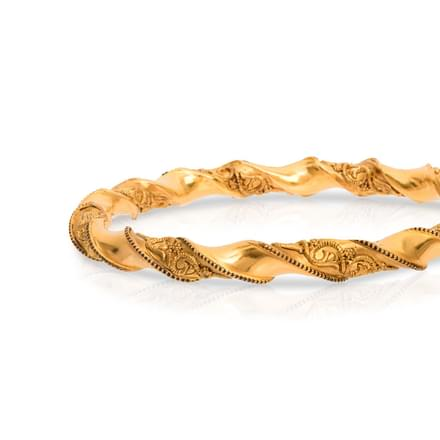 Twine and Filigree Gold Bangles