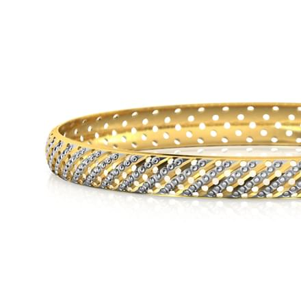 Edgy Lattice Gold Bangle