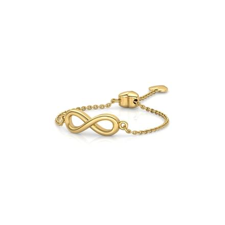 Infinity Heart Flexi Ring