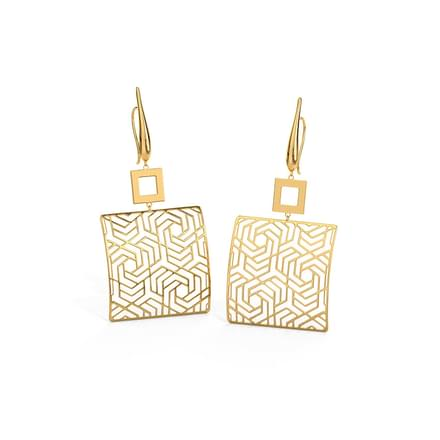 Ruth Pentagonal Swirl Drop Earrings
