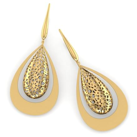 Ann Dewdrop Cutout Drop Earrings