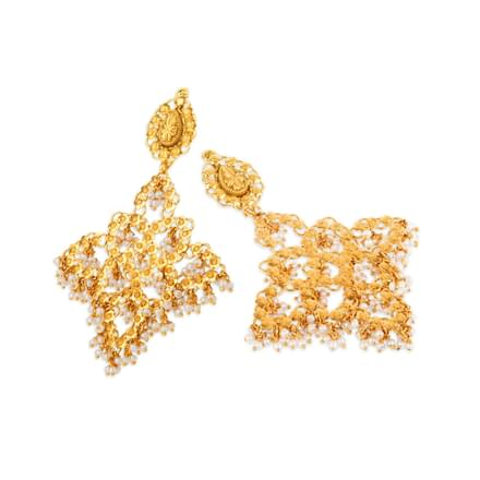 Aurelia Mesh Drop Earrings