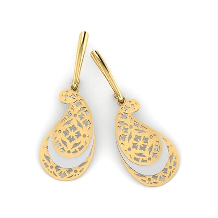 Paisley Veneer Drop Earrings