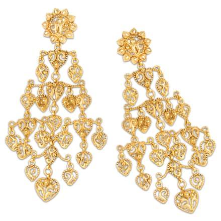 Lule drop chandelier earrings jewellery india online caratlane lule drop chandelier earrings mozeypictures Images