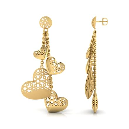 Hana Heart Bundle Drop Earring