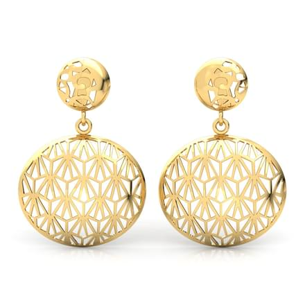shop mirvana jewellery earring balyck gold