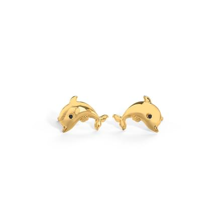 Chris Dolphin Stud Earrings