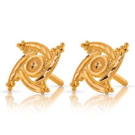 Aasya Granulated Gold Stud Earrings