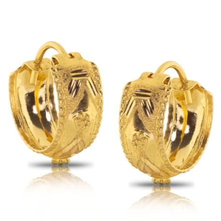 Jesal Granulated Gold Earrings
