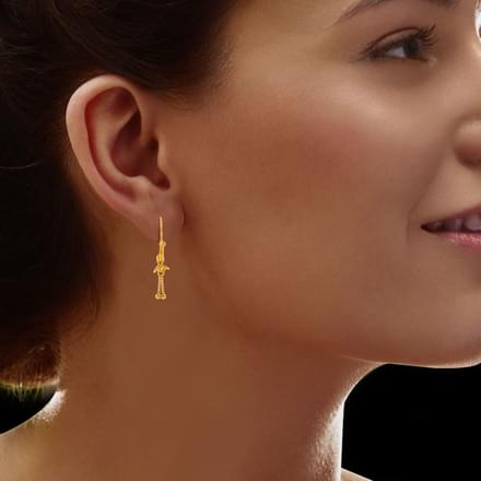 Enisa Beaded Gold Earrings