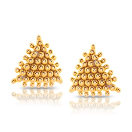 Feni Granulated Gold Stud Earrings