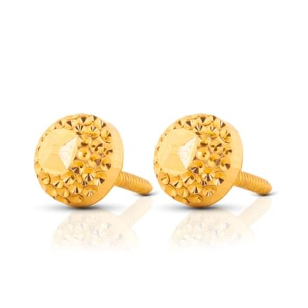 Kiah Beaded Gold Stud Earrings