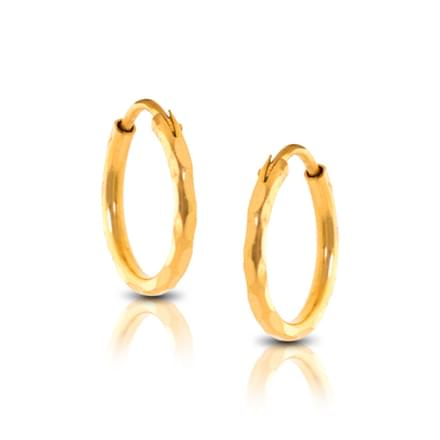 Ava Faceted  Hoop Earrings