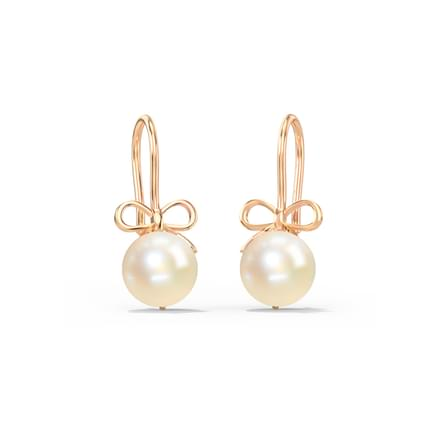 Bow Pearl Drop Earrings