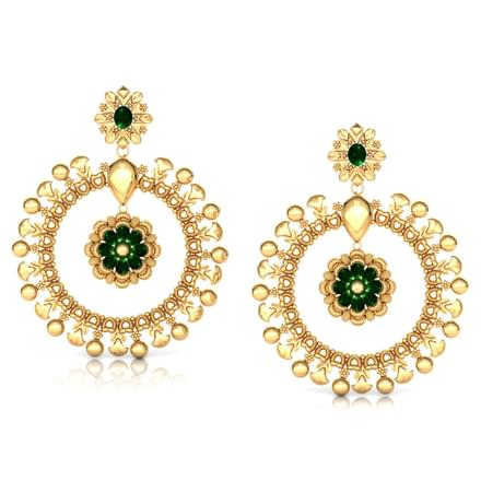 Lavish Beaded Gold Drop Earrings