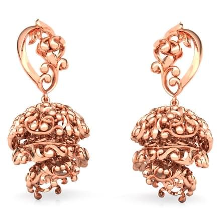 Three Tier Filigree Jhumkas