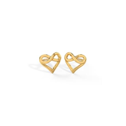 Infinity Love Stud Earrings