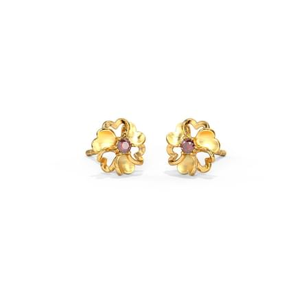 105ec75be Floral Heart Stud Earrings Floral Heart Stud Earrings. 14 Kt Yellow Gold ...