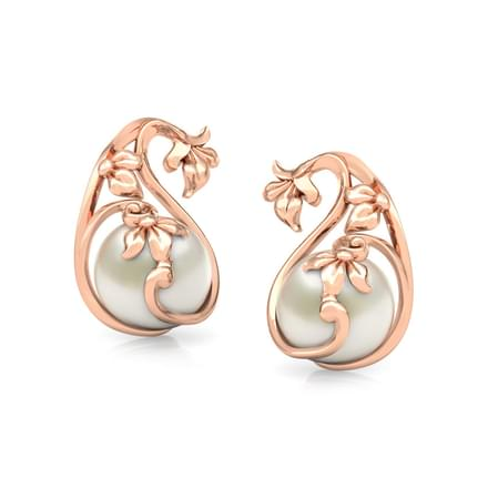Pretty Pearl Paisley Stud Earrings