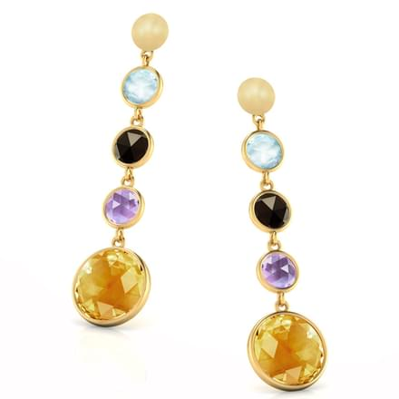 Serie Multi-Stone Drop Earrings