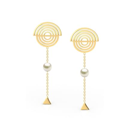 Spiral Pearl Drop Earrings