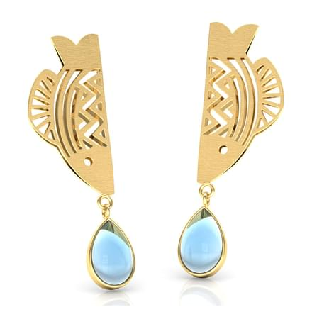 Matsya Linear Drop Earrings