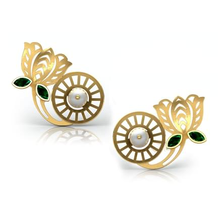 Padma Intricate Stud Earrings