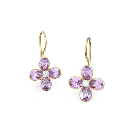 Amethyst Floret Drop Earrings