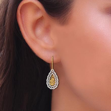 Pear Cutout Drop Earrings