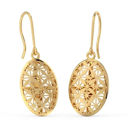 Ovate Cutout Drop Earrings