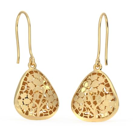 Trigon Cutout Drop Earrings