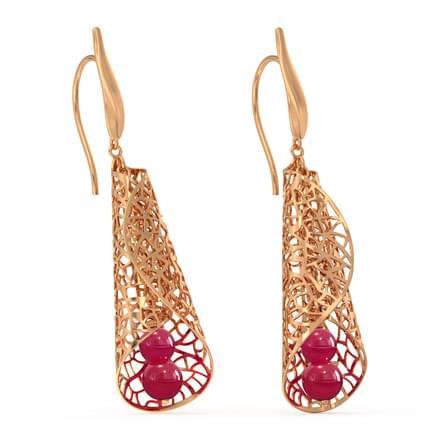 Enfold Leaf Drop Earrings