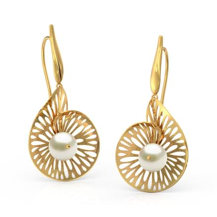 Swerve Leaf Drop Earrings