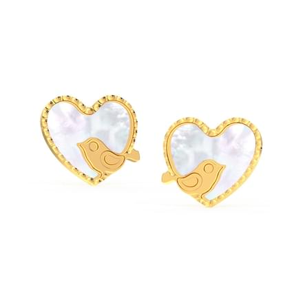 Chirpy Love Mother of Pearl Stud Earrings