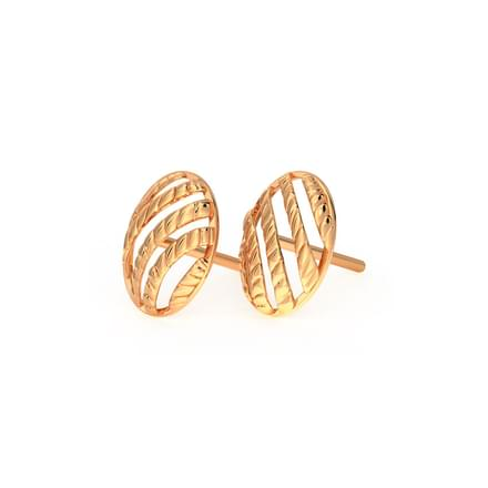 Woven Ovate Stud Earrings